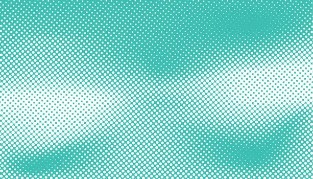 turquoise color halftone design abstract curve shape vector on blue background vector