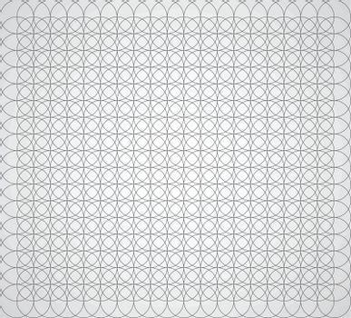 Seamless geometric pattern of circles on a white background vector