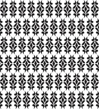 Art deco vector geometric pattern in dark black. Seamless texture for web, print, wallpaper
