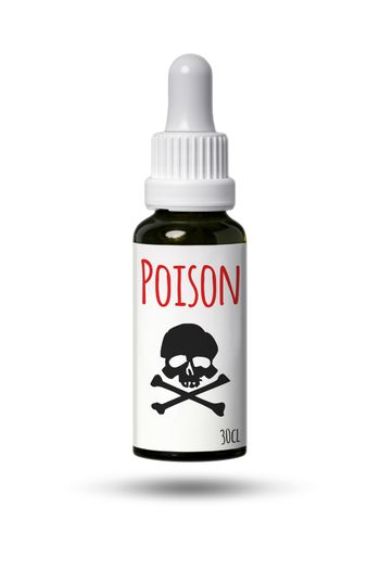 bottle with skull and poison