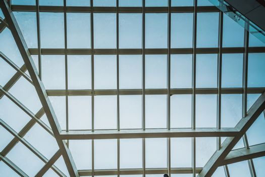The translucent roof in the cloudy day