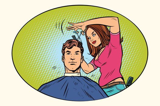 Mens haircut female hairdresser