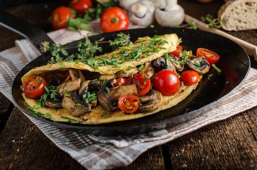 Rustic omelette