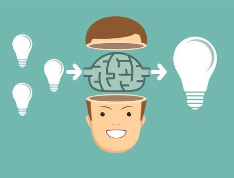 businessman Think about ideas.