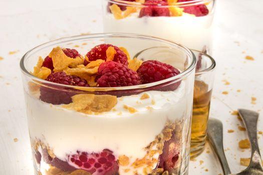 scottish dessert raspberry cranachan with whipped cream