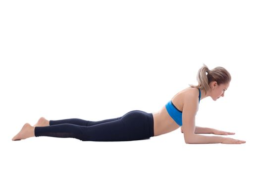 Stretching of pectoral deltoid and abdominal muscle