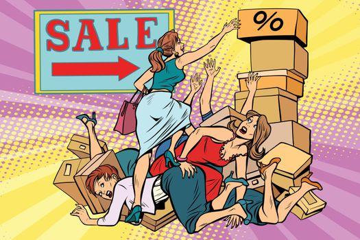 Women battle for discount on sale