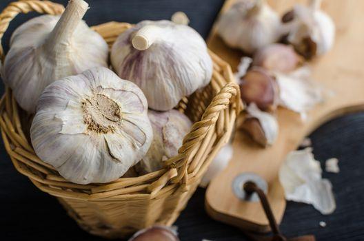 Domestic organic garlic