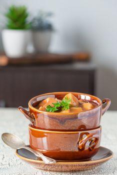 Steak and Potato Soup Portrait