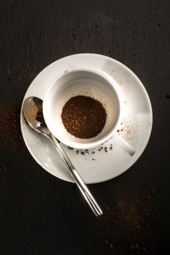 coffee cup with instant coffee