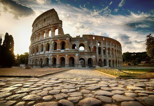 Dawn over Colosseum