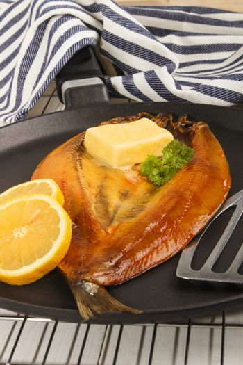 smoked warm scottish kipper with butter