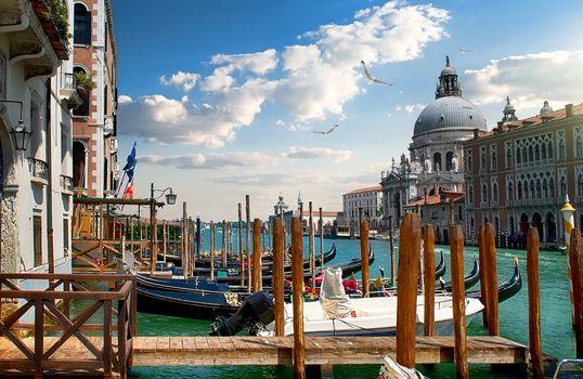 Beautiful venetian cityscape