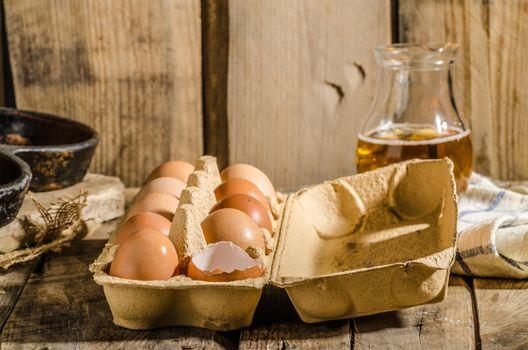 Domestic organic eggs