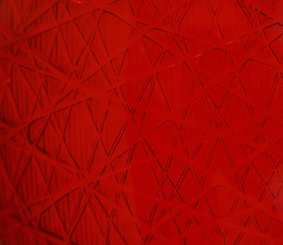 Red abstract background with polygon lines