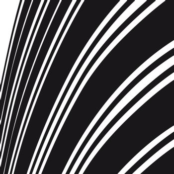 Abstract background. Black and white curve lines