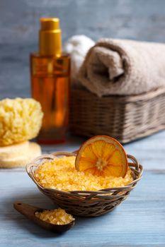 Orange Spa and wellness setting