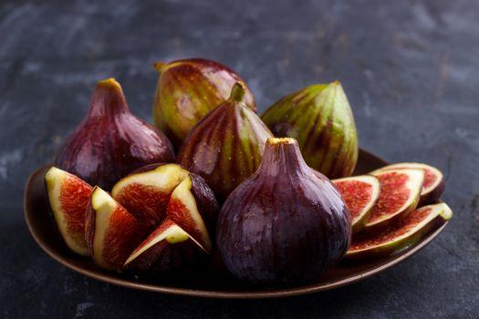 Ripe healthy figs