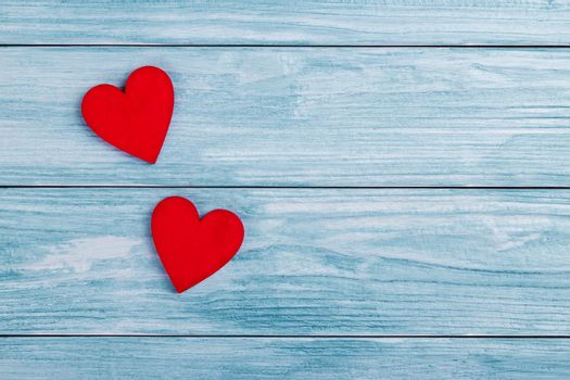 Two wooden hearts