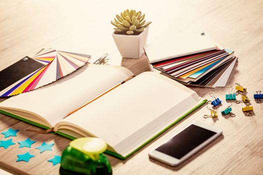 Workplace Of Artist Designer
