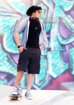 Stylish skater boy