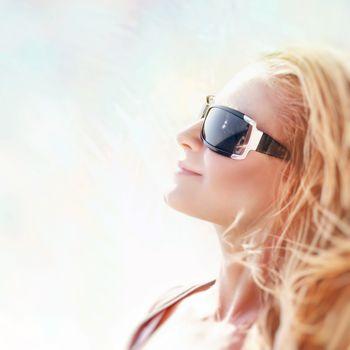Beautiful woman on sunny day