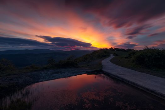 Sunrise in the Gorbea Natural Park