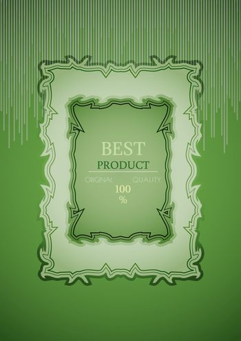 best product stamp on striped background