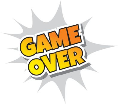 Game Over - Comic Speech Bubble Cartoon Game Assets
