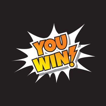 You Win - Comic Speech Bubble Cartoon Game Assets