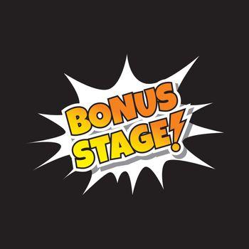 Bonus Stage - Comic Speech Bubble Cartoon Game Assets