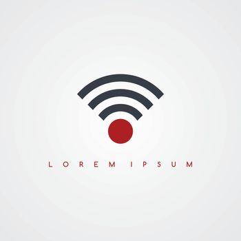 on line internet icon sign logotype theme vector art illustration