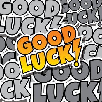 cartoon comic text good luck