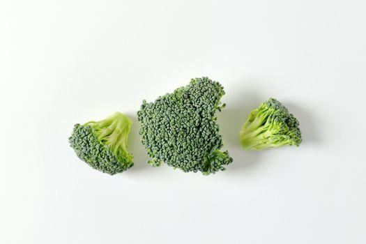 Fresh broccoli florets