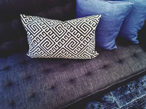Luxurious sofa with cushions