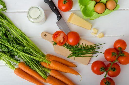 Spring vegetable, preparation