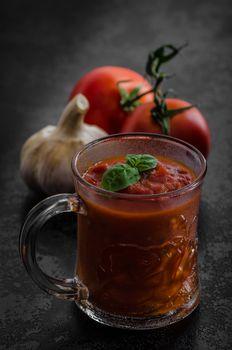 Tomato hot salsa - prepare for pasta