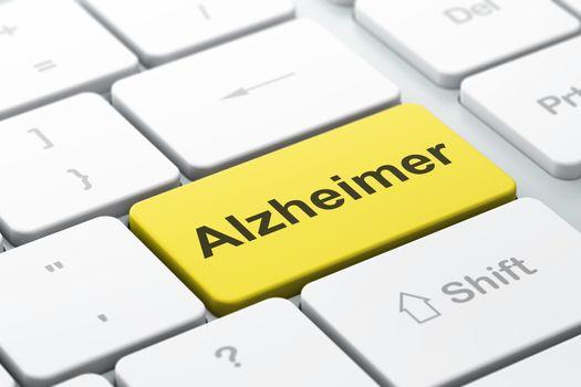 Health concept: Alzheimer on computer keyboard background