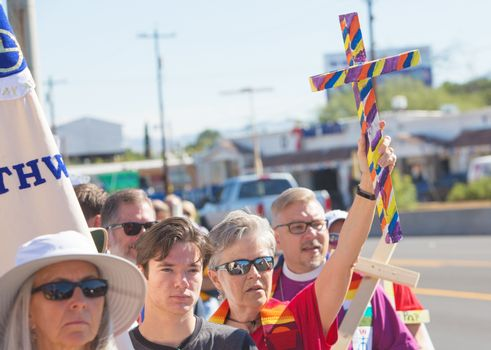 Clergy and Other Supporters at Protest March