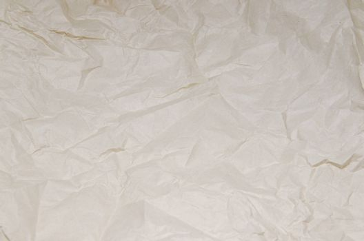 The texture of brown crumpled paper