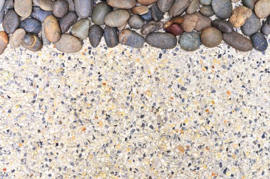 small stone on gravel background copy space