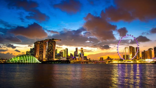 Lanscape of Singapore.