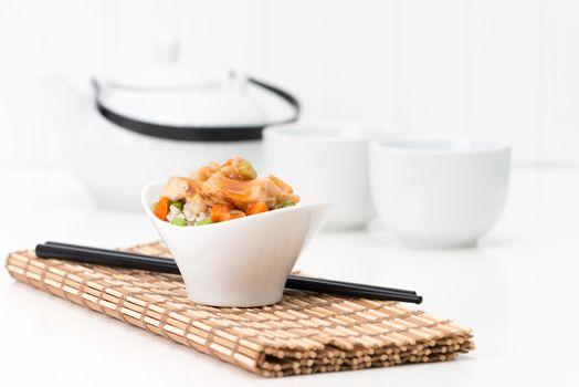 General Tao Chicken and Tea