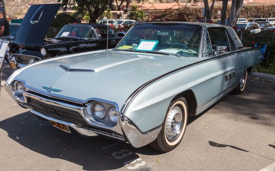 Silver 1963 Ford Thunderbird