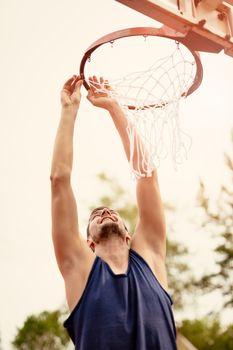 Basketball Net On The Hoop