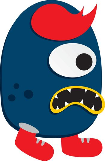 cute adorable ugly scary funny mascot monster