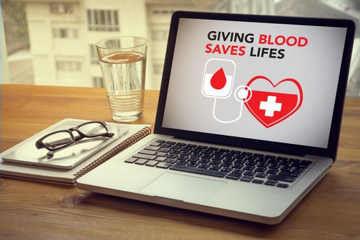 GIVING BLOOD SAVES LIFES Blood Donation Give Life