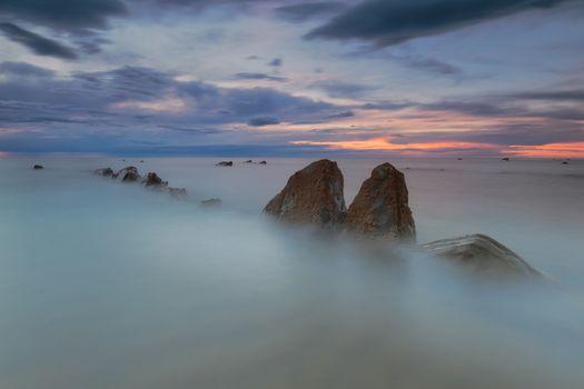 Rocks in a calm sea