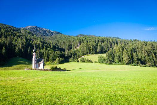 St Johann Church, Santa Maddalena, Val Di Funes, Dolomites, Italy