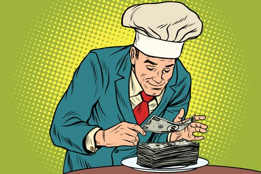 Businessman chef and the final banknote